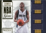 2009/10 Panini Playoff National Treasures NBA Gear Trios #34 Rodrigue Beaubois /25