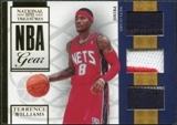 2009/10 Panini Playoff National Treasures NBA Gear Trios Prime #17 Terrence Williams /49