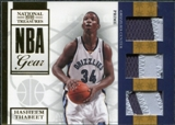 2009/10 Playoff National Treasures NBA Gear Trios Prime #32 Hasheem Thabeet /49