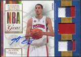2009/10 Panini Playoff National Treasures NBA Gear Trios Prime Signatures #22 Austin Daye /49