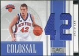 2009/10 Panini Playoff National Treasures Colossal Materials Jersey Numbers #11 David Lee /25
