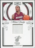 2009/10 Panini Playoff National Treasures Century Materials #47 Michael Beasley /99