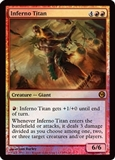Magic the Gathering Promo Single Inferno Titan Foil (Duels of the Planeswalkers 2012)