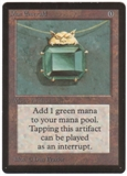 Magic the Gathering Beta Single Mox Emerald LIGHT PLAY (NM)