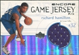 1999/00 Upper Deck Encore Game Jerseys #RHJ Richard Hamilton