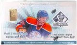 2011/12 Upper Deck SP Authentic Hockey Hobby Box
