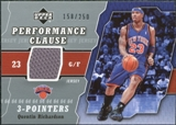 2005/06 Upper Deck Performance Clause Jerseys #QR Quentin Richardson /250