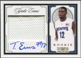 2009/10 Playoff National Treasures Century Gold #236 Tyreke Evans Rookie Jersey Autograph 2/25