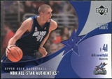 2002/03 Upper Deck All-Star Authentics Shorts #DNAS Dirk Nowitzki
