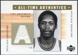 2002/03 Upper Deck Generations All-Time Authentics #TA2A Nate Archibald White