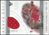 2001/02 Upper Deck Honor Roll All-NBA Authentic Jerseys #9 Ron Mercer