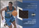 2002/03 Upper Deck UD Game Jerseys 1 #TBRJ Terrell Brandon R