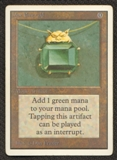 Magic the Gathering Unlimited Single Mox Emerald LIGHT PLAY (NM)
