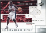 2002/03 Upper Deck Championship Drive Prized Properties Jersey #EBPP Elton Brand