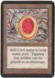 Magic the Gathering Alpha Single Mox Ruby - SLIGHT PLAY (SP)