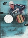 2000/01 Upper Deck SPx Winning Materials #TS Teemu Selanne Jersey Stick