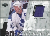 2000/01 Upper Deck Game Jerseys #MS Mats Sundin Series 2