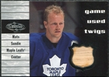 2000/01 Upper Deck UD Heroes Game-Used #TMS Twigs Mats Sundin