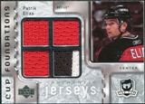 2006/07 Upper Deck The Cup Foundations #CQPE Patrik Elias 6/25 Quad Jersey