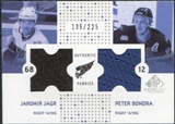 2002/03 Upper Deck SP Game Used Authentic Fabrics #CFJB Jaromir Jagr Peter Bondra /225