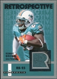2006 Fleer Hot Prospects Retrospective Jerseys #RERB Ronnie Brown SP