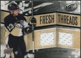 2008/09 Upper Deck Ice Fresh Threads Black Parallel #FTAG Alex Goligoski /25