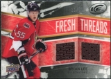 2008/09 Upper Deck Ice Fresh Threads Black Parallel #FTBL Brian Lee /25