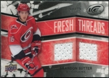 2008/09 Upper Deck Ice Fresh Threads Black Parallel #FTBS Brandon Sutter /25
