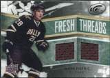 2008/09 Upper Deck Ice Fresh Threads Black Parallel #FTFI Mark Fistric /25