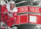 2008/09 Upper Deck Ice Fresh Threads Black Parallel #FTJE Jonathan Ericsson /25