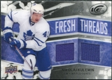 2008/09 Upper Deck Ice Fresh Threads Black Parallel #FTNK Nikolai Kulemin /25