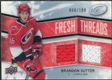 2008/09 Upper Deck Ice Fresh Threads Parallel #FTBS Brandon Sutter /100