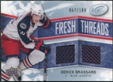 2008/09 Upper Deck Ice Fresh Threads Parallel #FTDB Derick Brassard /100