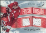 2008/09 Upper Deck Ice Fresh Threads Parallel #FTJA Justin Abdelkader /100