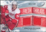 2008/09 Upper Deck Ice Fresh Threads Parallel #FTJE Jonathan Ericsson /100