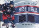 2008/09 Upper Deck Ice Fresh Threads Parallel #FTJV Jakub Voracek /100