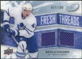 2008/09 Upper Deck Ice Fresh Threads Parallel #FTNK Nikolai Kulemin /100