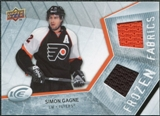 2008/09 Upper Deck Ice Frozen Fabrics #FFSG Simon Gagne