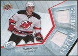 2008/09 Upper Deck Ice Frozen Fabrics #FFZP Zach Parise