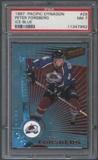 1997/98 Pacific Dynagon Hockey #29 Peter Forsberg Ice Blue PSA 7 (NM) *7962