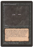 Magic the Gathering Beta Single Word of Command UNPLAYED (NM/MT)
