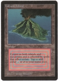Magic the Gathering Beta Single Volcanic Island LIGHT PLAY (NM)