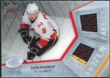 2008/09 Upper Deck Ice Frozen Fabrics Black Parallel #FFDP Dion Phaneuf /25