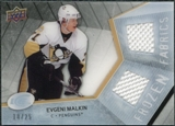 2008/09 Upper Deck Ice Frozen Fabrics Black Parallel #FFEM Evgeni Malkin /25