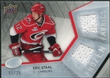 2008/09 Upper Deck Ice Frozen Fabrics Black Parallel #FFES Eric Staal /25