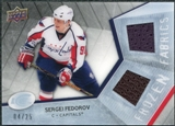 2008/09 Upper Deck Ice Frozen Fabrics Black Parallel #FFFV Sergei Fedorov /25