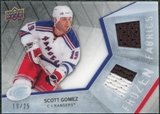 2008/09 Upper Deck Ice Frozen Fabrics Black Parallel #FFGZ Scott Gomez /25