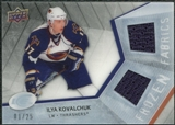 2008/09 Upper Deck Ice Frozen Fabrics Black Parallel #FFIK Ilya Kovalchuk /25