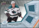 2008/09 Upper Deck Ice Frozen Fabrics Black Parallel #FFJC Jonathan Cheechoo /25