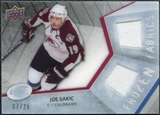 2008/09 Upper Deck Ice Frozen Fabrics Black Parallel #FFJJ Joe Sakic /25